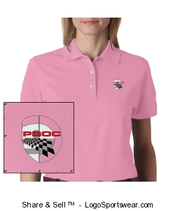 Izod Ladies Classic Silk-Washed Pique Polo Design Zoom
